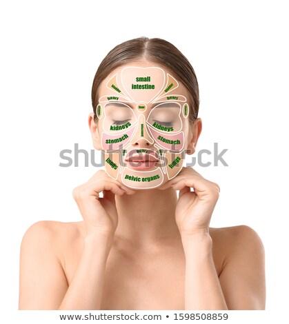 Reflexology of the face Stock photo © adrenalina