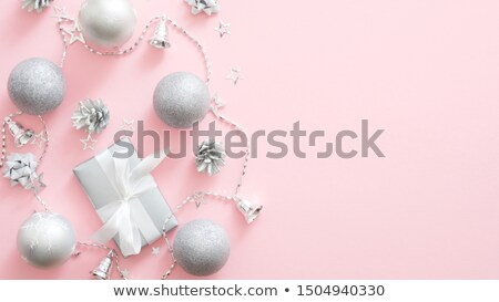 Christmas roze snuisterij ornament web banner Stockfoto © cienpies