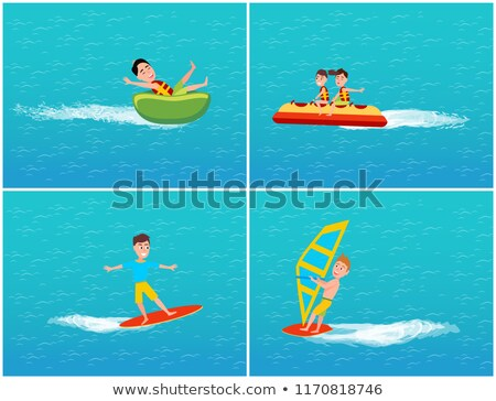 Water Transport and Relaxation Set Kids Vector Stock photo © robuart