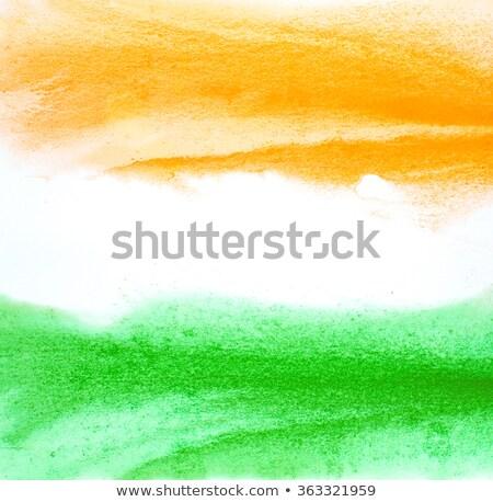 Abstract indian aquarel vlag republiek dag Stockfoto © SArts