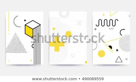 Stock photo: Template geometric wallpaper. Material design. Abstract template.