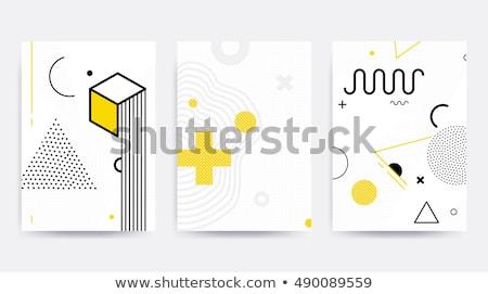 şablon · geometrik · duvar · kağıdı · malzeme · dizayn · soyut - stok fotoğraf © AisberG