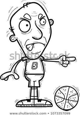 Zangado desenho animado senior ilustração Foto stock © cthoman