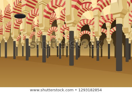 Inside of Alhambra Palace in Spain Illustration Stock photo © artisticco