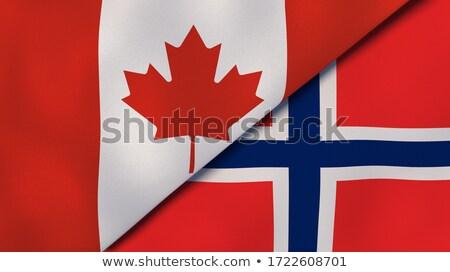 Dos banderas Canadá Noruega aislado Foto stock © MikhailMishchenko