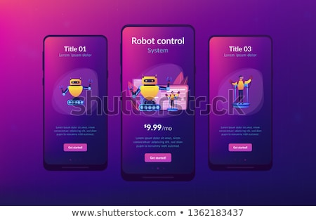 Remotely operated robots app interface template. Stock photo © RAStudio