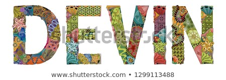 Male name Devin. Vector decorative zentangle object Stock photo © Natalia_1947