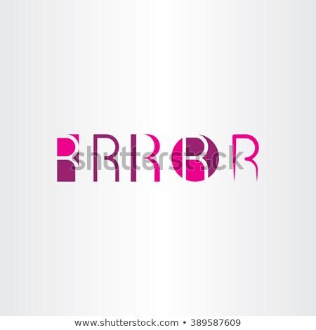 Letra r magenta coleção vetor símbolo Foto stock © blaskorizov