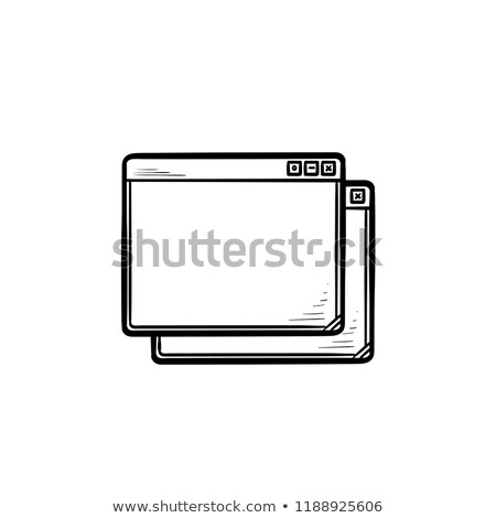 Stock photo: Browser windows hand drawn outline doodle icon set.