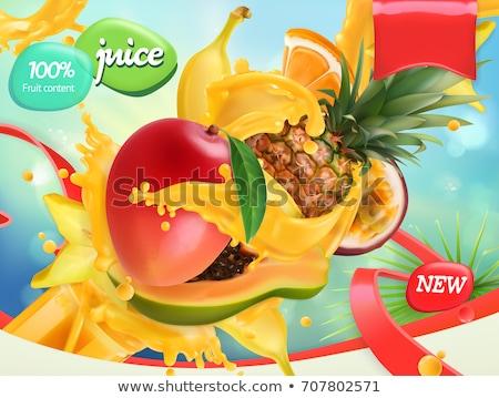 Mango ananas banaan posters vector ingesteld Stockfoto © robuart
