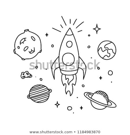 Sketch Saturn icon Stock photo © netkov1