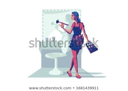 Profi smink specialista tart ecset nagy Stock fotó © RAStudio