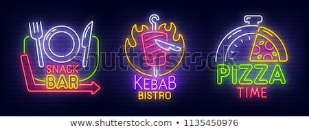 kebab · illustration · dîner · salade · cartoon - photo stock © anna_leni