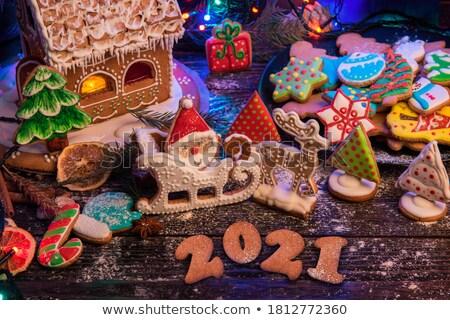 Christmas piekarz renifer ilustracja pracy tle Zdjęcia stock © colematt