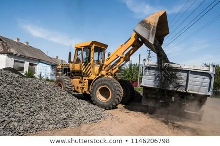 Vrachtwagen einde Stockfoto © njnightsky