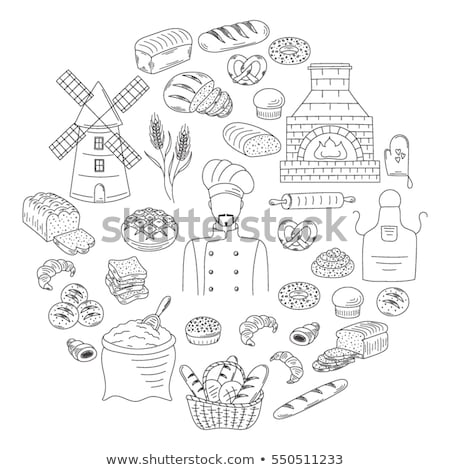 croissant · icon · witte · vector · illustratie · teken - stockfoto © arkadivna