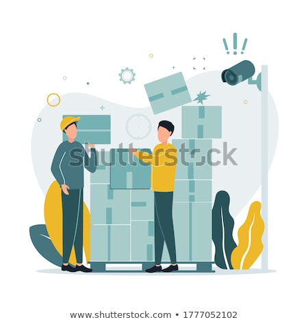 Video Surveillance with Cameras on Stand Icon Stock photo © robuart