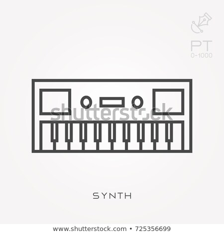 stereo · müzik · dalga · ikon · sarı · soyut - stok fotoğraf © angelp