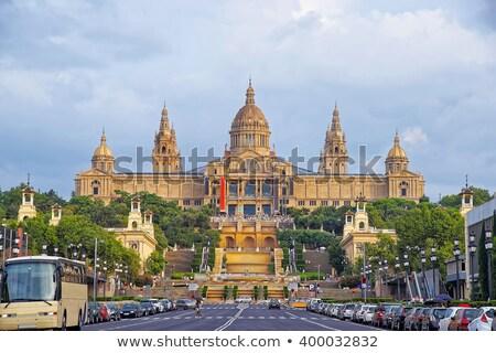 モニュメンタル · 噴水 · ラ · バルセロナ · スペイン · 旅行 - ストックフォト © artjazz