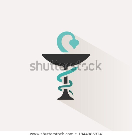 Farmacia color icono sombra serpiente símbolo Foto stock © Imaagio