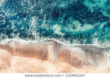 Antena shot plaży fale wzorców tekstury Zdjęcia stock © lovleah