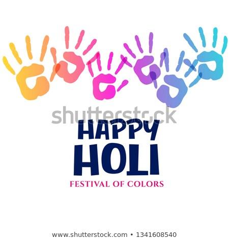 Farben Festival Hand Eindruck Hintergrund Farbe Stock foto © SArts