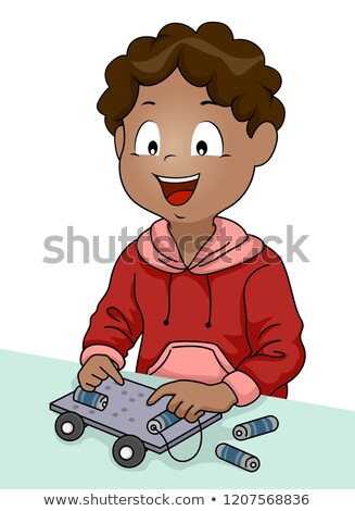 Kid мальчика стебель иллюстрация Сток-фото © lenm