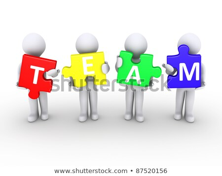 3d People Carrying Word Team Photo stock © 6kor3dos
