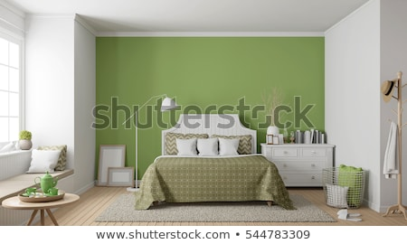 vert · oreillers · président · lumière · fond · hôtel - photo stock © dashapetrenko