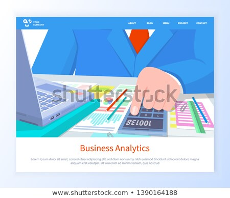 Stock photo: Workers Hands Counting, Business Analytics Vector