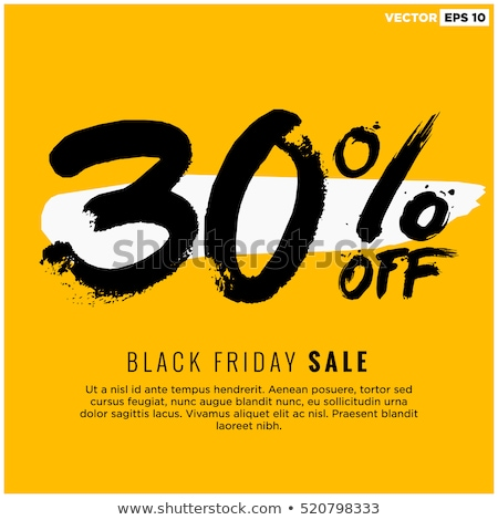 Thirty Percent Or 30 Marketing Offer Vector Stock photo © pikepicture