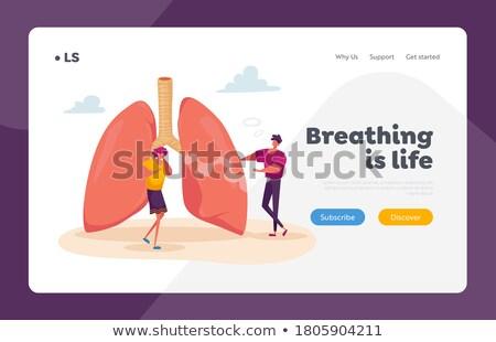 obstructive pulmonary disease concept landing page stock photo © rastudio