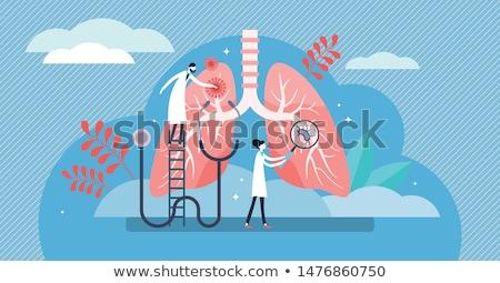 Tüdőgyulladás kezelés gyógyít légzési virális fertőzés Stock fotó © RAStudio