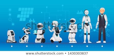 Modern evrim robotlar vektör fütüristik Stok fotoğraf © robuart