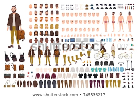 Character Male Constructor Body Detail Set Vector Stock photo © pikepicture