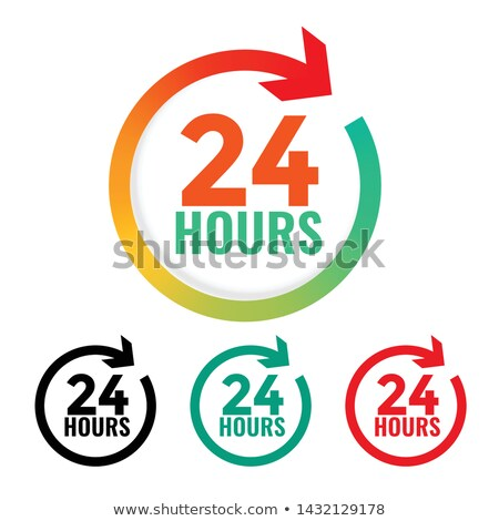 24 hours open icon in many colors Stock photo © SArts