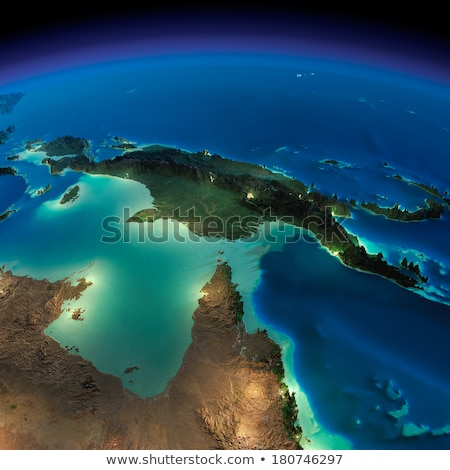 Szczegółowy ziemi noc Australia Papua-Nowa Gwinea planety Ziemi Zdjęcia stock © Antartis