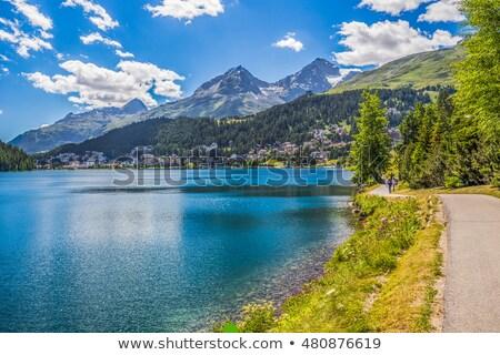 panorama · ski · Resort · village · la · ciel - photo stock © frimufilms