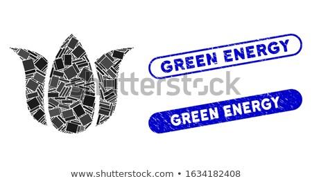 alternative eco flower stamp stock photo © szsz