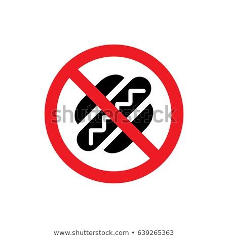 fast food burger prohibition sign stock photo © romvo