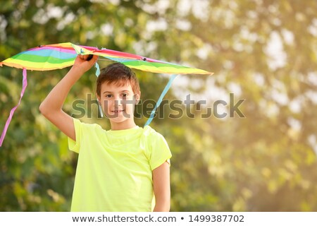 Happy little boy with kite Stock photo © Anna_Om