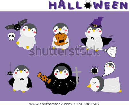 Halloween Penguin Wizard Stock photo © Dazdraperma