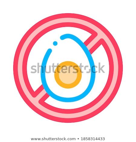 Allergen Free Chicken Egg Vector Thin Line Icon Stock photo © pikepicture