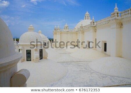 Our Lady of Grace Cathedral in Leon, Nicaragua Stock photo © benkrut