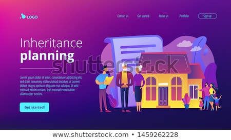 Retirement estate planning concept landing page. Stock photo © RAStudio