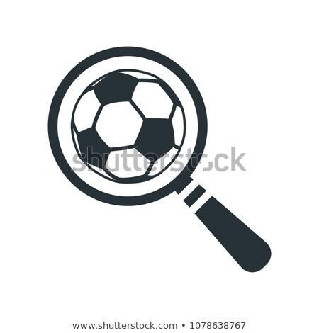 Vergrootglas voetbal icon Zoek contour Stockfoto © kyryloff