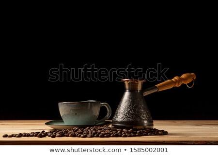 Taze türk kahve eski rustik kahve çekirdekleri Stok fotoğraf © grafvision
