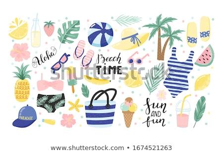 Сток-фото: пляж · буй · красивой · Спасательный · круг · кристалл · природы