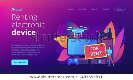 Renting electronic device concept landing page. Stock photo © RAStudio