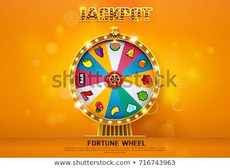 Kerék pörgés győzelem játék gép vektor Stock fotó © robuart